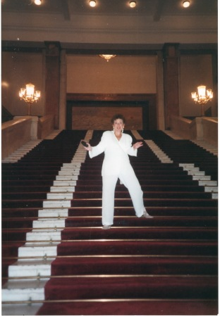 Dancing down the steps of the Great Hall of the People the night of my 50th birthday party.