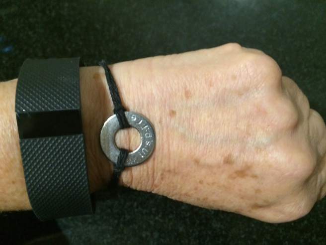 Marian Rivman always wears her FitBit and her WORD Inspire