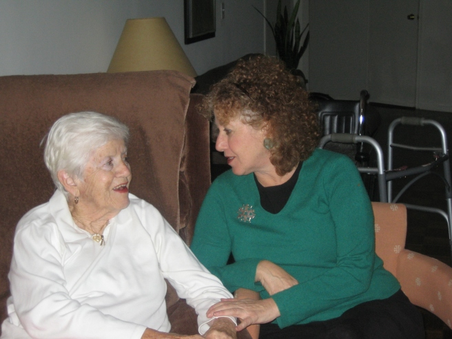 With my mom, Julia Rivman