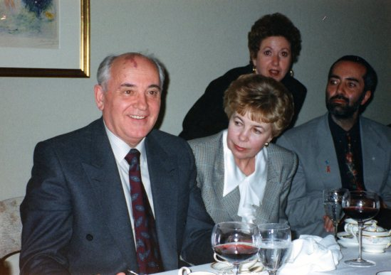 In Kyoto with Mikhail and Raisa Gorbachev and Raffi