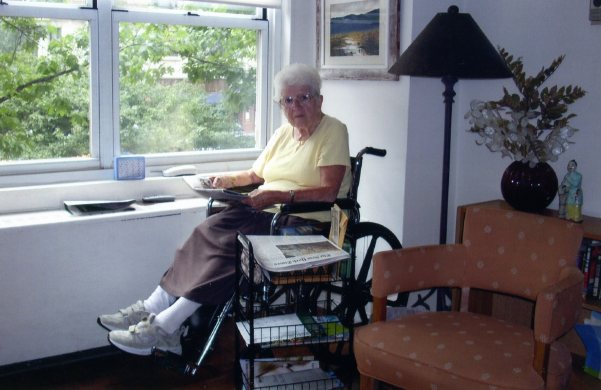Julia Rivman in her 'nursing home for one'
