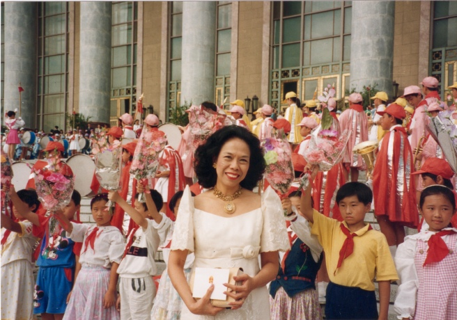 Beijing 1995 - Dr. Patricia Licuanan, Chair of the Commission on the Status of Women, at the opening ceremony for the FWCW